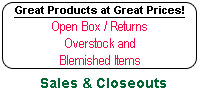 SALES, CLOSEOUTS & SPECIALS
